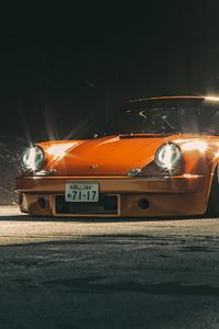320x568 Orange Porsche 4k
