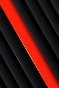Orange Red Black Abstract 5k