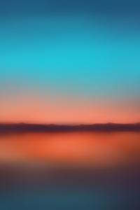Orange Sunset Blur Minimalist 5k