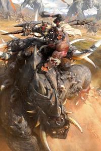 720x1280 Orc In War Artwork
