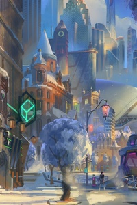 640x1136 Overwatch 2 Concept Art
