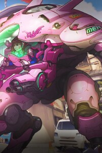 720x1280 Overwatch D Va HD