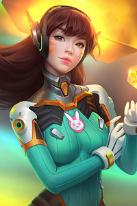800x1280 Overwatch Dva Long Hairs 4k