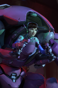 Overwatch Dva With Meka 5k