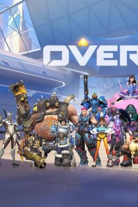 1125x2436 Overwatch Game All Heroes
