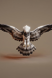 1280x2120 Owl 3d Graphic Art