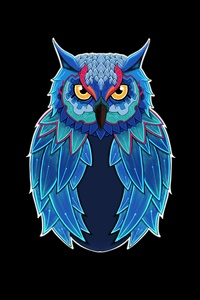 800x1280 Owl Dark 5k