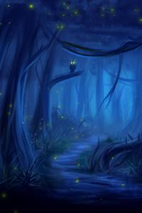 Owl Forest Fantasy Dreamy
