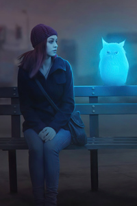 1440x2960 Owl Friend