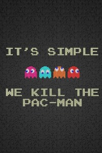 1080x2280 Pac Man Funny Typography