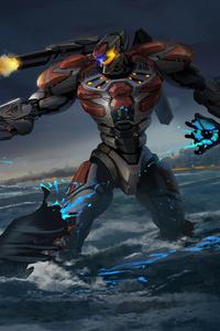 Pacific Rim Robot Firing Gun