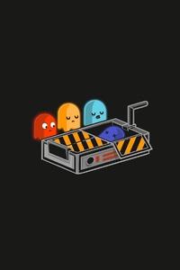 1242x2688 Pacman Minimal 4k