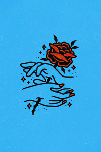 1242x2688 Painful Love Rose