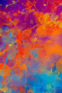 640x1136 Paint Splash Abstract 4k