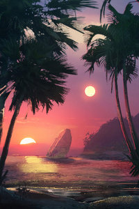 1440x2960 Palm Tree 4k