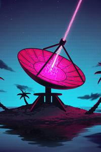640x1136 Palm Tree Anteena Dish 5k
