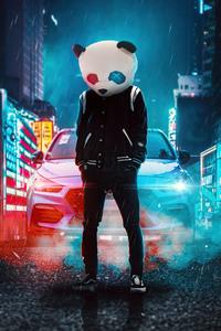 320x480 Panda Cool On Street 4k