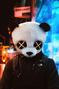 Panda Glowing Eyes City 5k