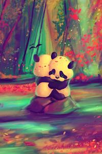 640x1136 Panda Lovers 4k