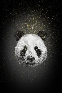 Panda Low Poly 4k