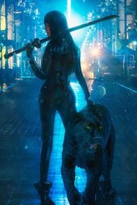 1080x2160 Panther Girl Master 4k