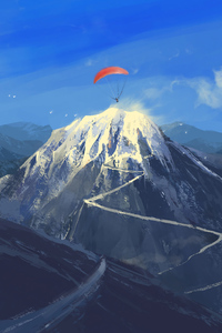 320x480 Paragliding To The Mountains