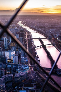 320x480 Paris View From Eiffel Tower Top Flower 5k