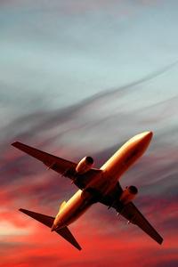 480x800 Passenger Plane 5k