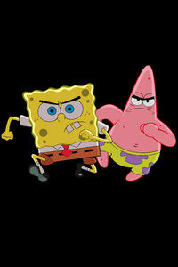 1125x2436 Patrick Star And Spongebob