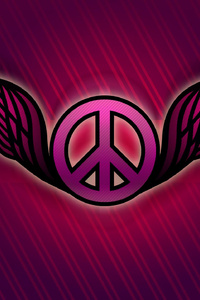 1125x2436 Peace Logo Abstract