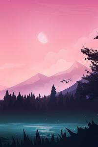 240x320 Peaceful Lake Minimal 4k