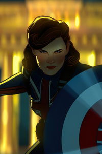 1080x2160 Peggy Carter As Captain America In What If Tv Series
