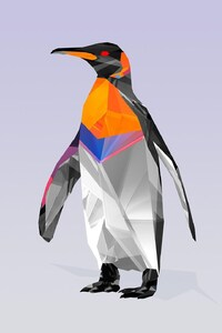 240x320 Penguin Abstract