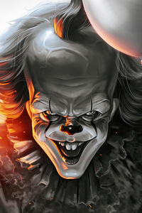 800x1280 Pennywise Zombie 4k