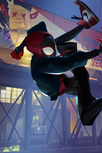 Peter Parker Spiderman Into The Spider Verse
