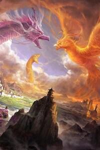 Phoenix Dragon Snake Digital Art
