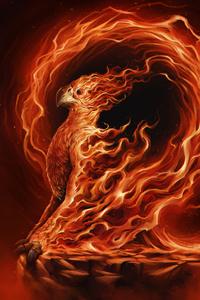 1440x2960 Phoenix Illustration