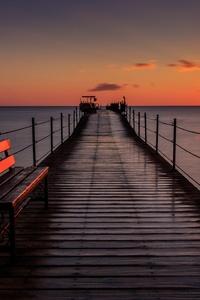Pier Bench Sunset 5k