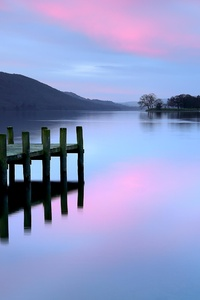 320x568 Pier Lake District Evening 4k