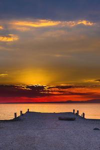 1440x2560 Pier Sunset Evening 5k