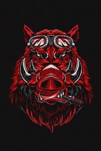 Pig Dark Minimal Art