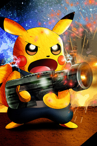 Pikachu As Rocket Raccoon