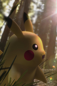 1080x2280 Pikachu In Forest