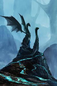 1440x2960 Pillars Of Mist Dragons 4k