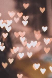 480x854 Pink Bokeh Hearts 4k