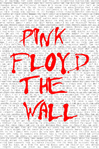 1242x2688 Pink Floyd The Wall Typography 4k