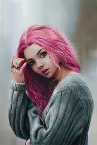 1440x2960 Pink Hair Girl