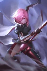 Pink Head Warrior