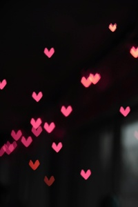 360x640 Pink Little Heart Bokeh Lights