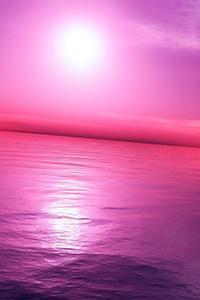 Pink Purple Sky 4k